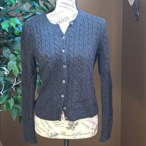The Limited Dark Grey cropped cardigan sweater